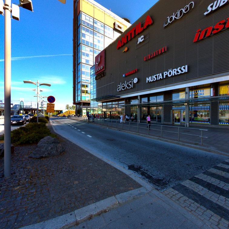 Kauppakeskus Sello 360° - 360° panoraamakuvaukset tarjoaa Panoraamakuvat.fi